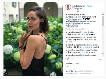 Influencer PR Agentur .comTessa - Tessa Saueressing - Influencer Marketing - Event Watchpeople Clippings