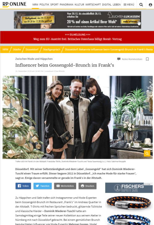 Influencer Agentur .comTessa - Influencer Marketing - Tessa Saueressig - Lifestyle, Beauty, Fashion - Influencer Agency - Referenzen - Event Watchpeople - Clipping